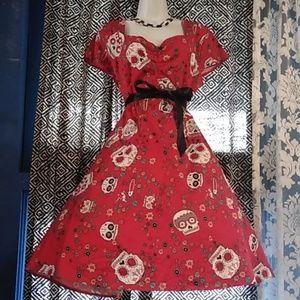 Sugar skull pin up dress size XL